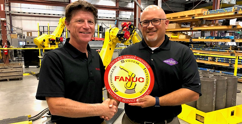 Weldon Solutions receives FANUC Certified Service Provider Certification